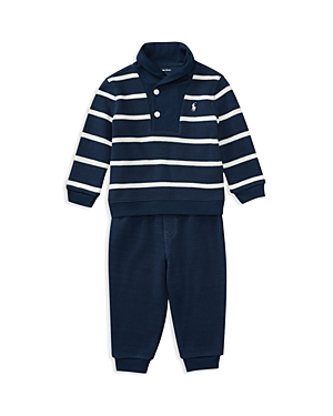 Ralph Lauren Childrenswear Boys' Striped Sweater & Joggers Set - Baby