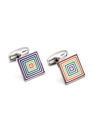Paul Smith Striped Square Cufflinks