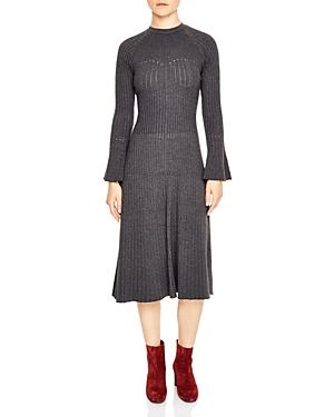 Sandro Bliss Knit Midi Dress