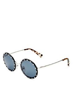 Valentino - Women's Embellished Round Sunglasses, 53mm