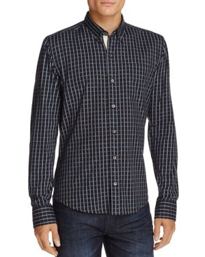 Wrk Textured Check Long Sleeve Regular Fit Button-Down Shirt