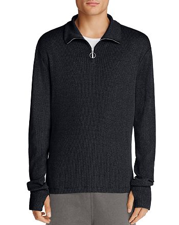 Theory - Quarter Zip Ribbed Sweater - 100% Exclusive