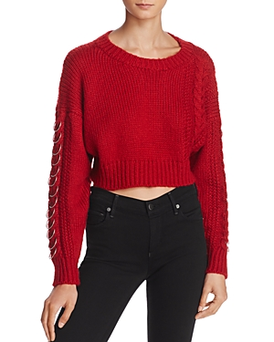 Sunset + Spring Hardware Detail Cable-Knit Sweater - 100% Exclusive