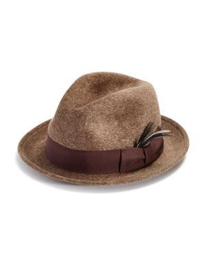 BAILEY OF HOLLYWOOD Bailey Of Hollywood Riff Polished Wool Center Dent Crown Hat - 100% Exclusive in Mink