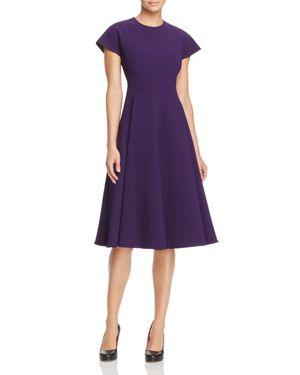 Paule Ka Bonded Crepe A-Line Dress