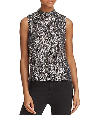 Equipment Benton Sleeveless Sequin Top