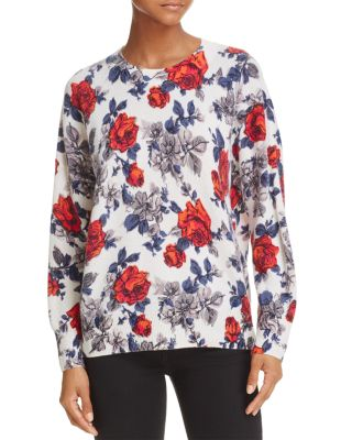 $Equipment Melanie Floral Cashmere Sweater - Bloomingdale's