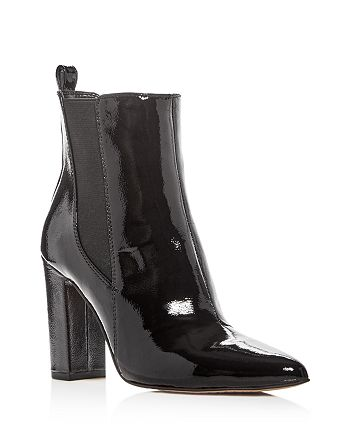 7049b4486955 VINCE CAMUTO Women's Britsy Patent Leather High Block Heel Booties ...