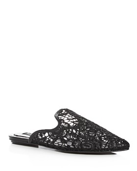 JAGGAR - Women's Womens' Aside Lace Pointed Toe Mules