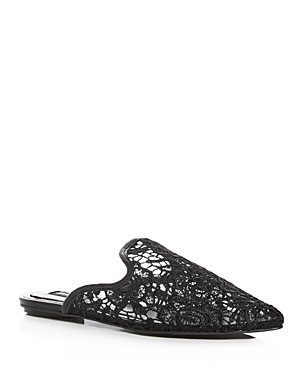 Jaggar Womens' Aside Lace Pointed Toe Mules