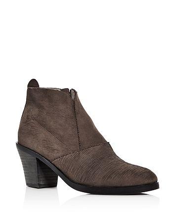706ecdf46a71 Eileen Fisher Women s Murphy Nubuck Leather Mid Heel Booties ...