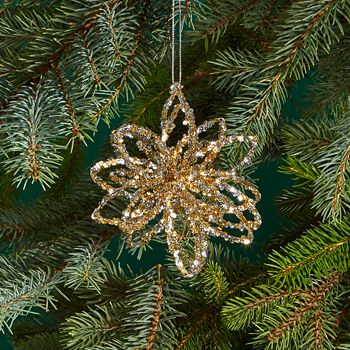 Bloomingdale's - Tinsel Star Ornament - 100% Exclusive