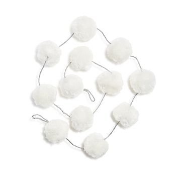Bloomingdale's - Ivory Pom-Pom Garland - 100% Exclusive