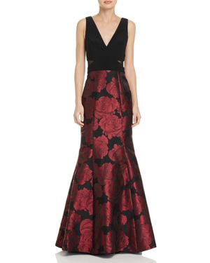 Avery G Jacquard-Skirt Gown