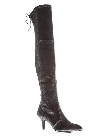 Stuart Weitzman - Women's Tiemodel Velvet Over-the-Knee Boots