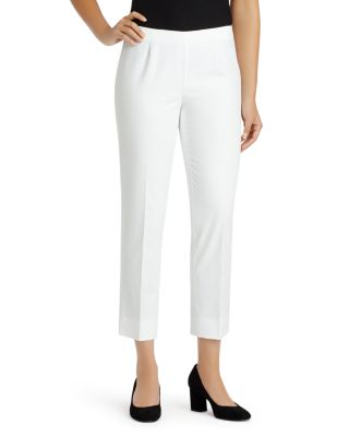 Metropolitan Stretch Cropped Bleecker Pants in White