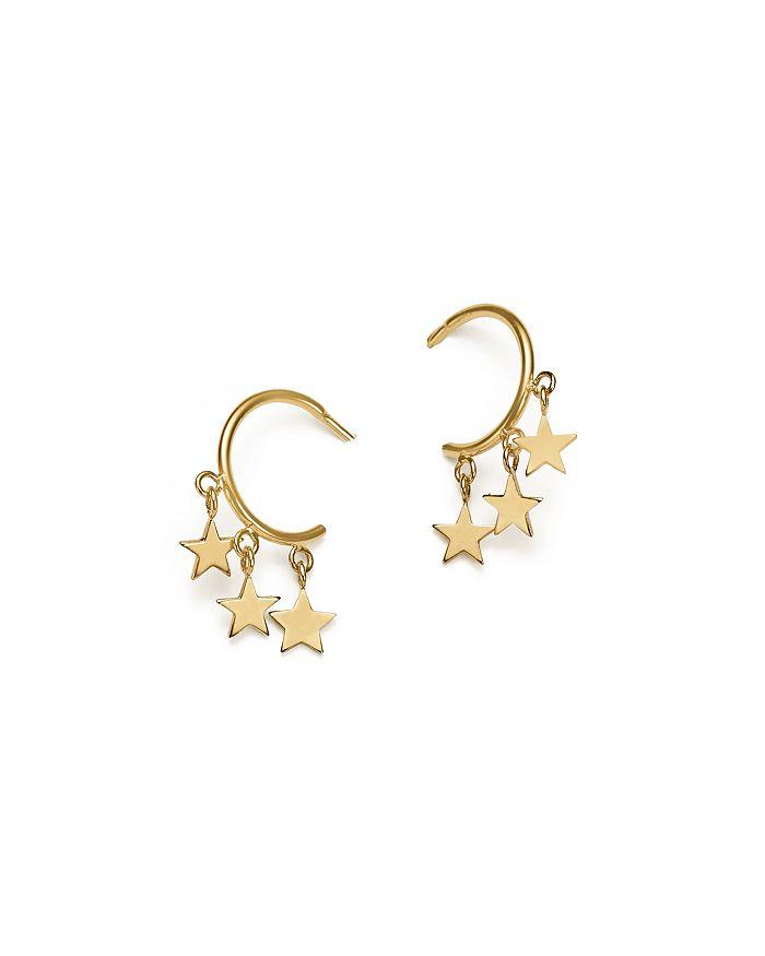 Zoë Chicco 14k Yellow Gold Itty Bitty Stars Hoop Earrings