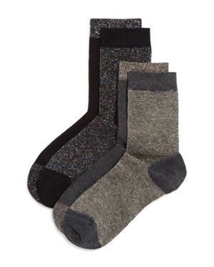 Pretty Polly Mismatched Sparkle Stripe Socks, Set of 2