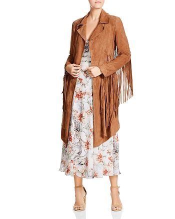 Haute Hippie - Born In The Fire Fringed Suede Jacket