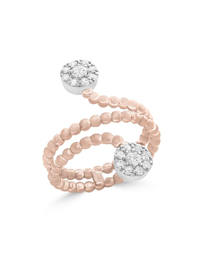 Bloomingdale's - Diamond Cluster Beaded Ring in 14K White and Rose Gold, .35 ct. t.w. - 100% Exclusive