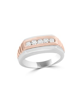 Bloomingdale's - Diamond Men's Band in 14K White and Rose Gold, .45 ct. t.w. - 100% Exclusive