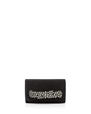 Sondra Roberts Crystal-Embellished Velvet Clutch
