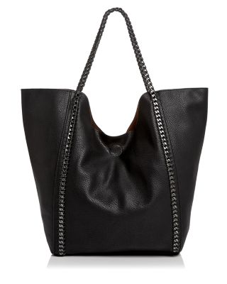 CHAIN LINK TRIM LARGE TOTE