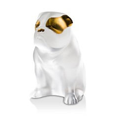 Lalique Bulldog Figure, Clear and Gold Stamped - Bloomingdale's_0