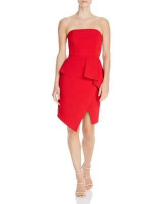 $Adelyn Rae Samantha Strapless Asymmetric Dress - Bloomingdale's