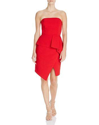 Adelyn Rae - Samantha Strapless Asymmetric Dress