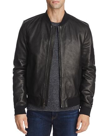 Cole Haan - Leather Varsity Bomber Jacket