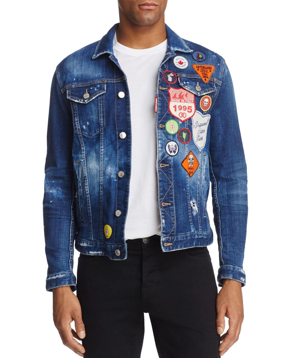 Dan Patch Slim Fit Jean Jacket by Dsquared2