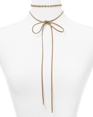 Argento Vivo Adorned Hexagon Suede Choker Necklace, 60