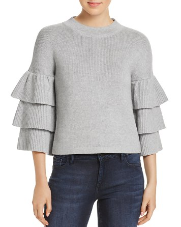 $Endless Rose Tiered Ruffle Sleeve Sweater - Bloomingdale's