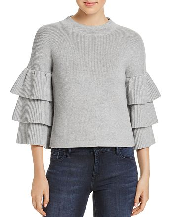 Endless Rose - Tiered Ruffle Sleeve Sweater