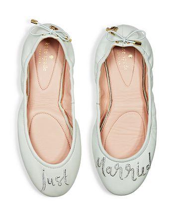 e6b93104d6e0d8 kate spade new york - Women s Gwen Leather Just Married Travel Ballet Flats