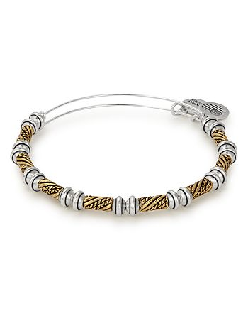 Alex and Ani - Quill Two-Tone Expandable Wire Bangle