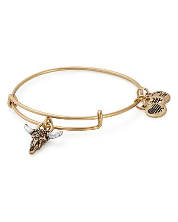 Alex and Ani - Spirited Skull Expandable Wire Bangle
