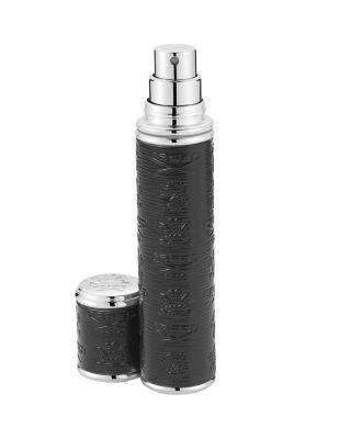 Pocket Leather & Silver Tone Bottle Atomizer by Creed