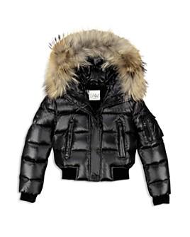 SAM. - Unisex Skyler Fur-Trimmed Down Bomber Jacket - Big Kid