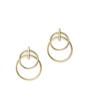 14K Yellow Gold Double Circle Drop Earrings - 100% Exclusive