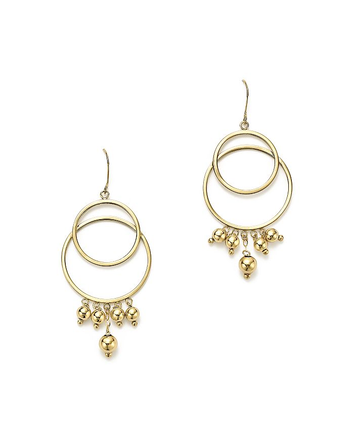 a0f4bba8d0f Bloomingdale s - 14K Yellow Gold Beaded Double Circle Drop Earrings - 100%  Exclusive