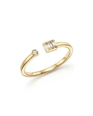 Dana Rebecca Designs 14K Yellow Gold Sadie Pearl Baguette Diamond Ring
