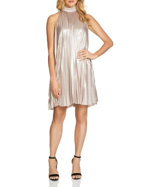 1.state Metallic Pleated Dress