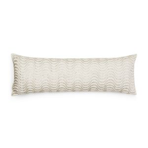 Sivaana Waves Embroidered Velvet Decorative Pillow, 12 x 36