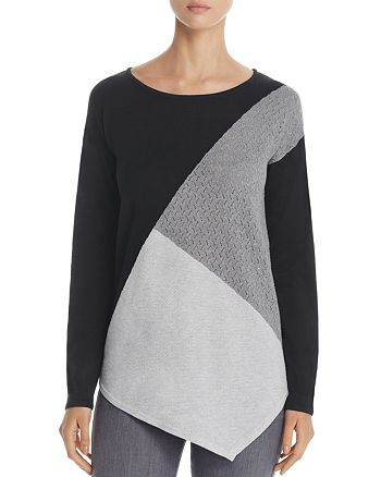 Design History - Asymmetric Color Block Sweater