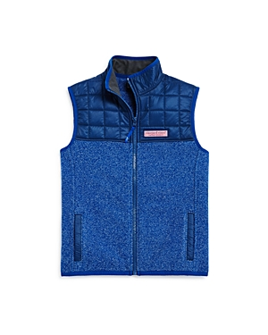 Boys Vineyard Vines Jacquard Fleece Vest