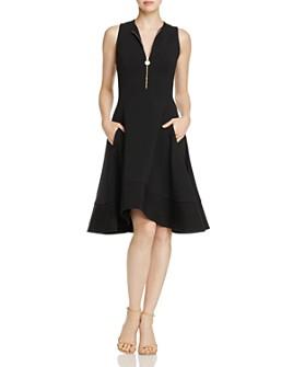 Donna Karan - Sleeveless Zip-Front Dress