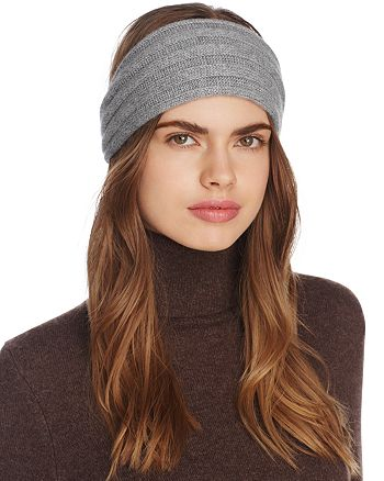 C by Bloomingdale's - Ribbed Cashmere Headband - 100% Exclusive
