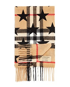 Burberry Girls' Star Print Exploded Check Cashmere Scarf - Bloomingdale's_0